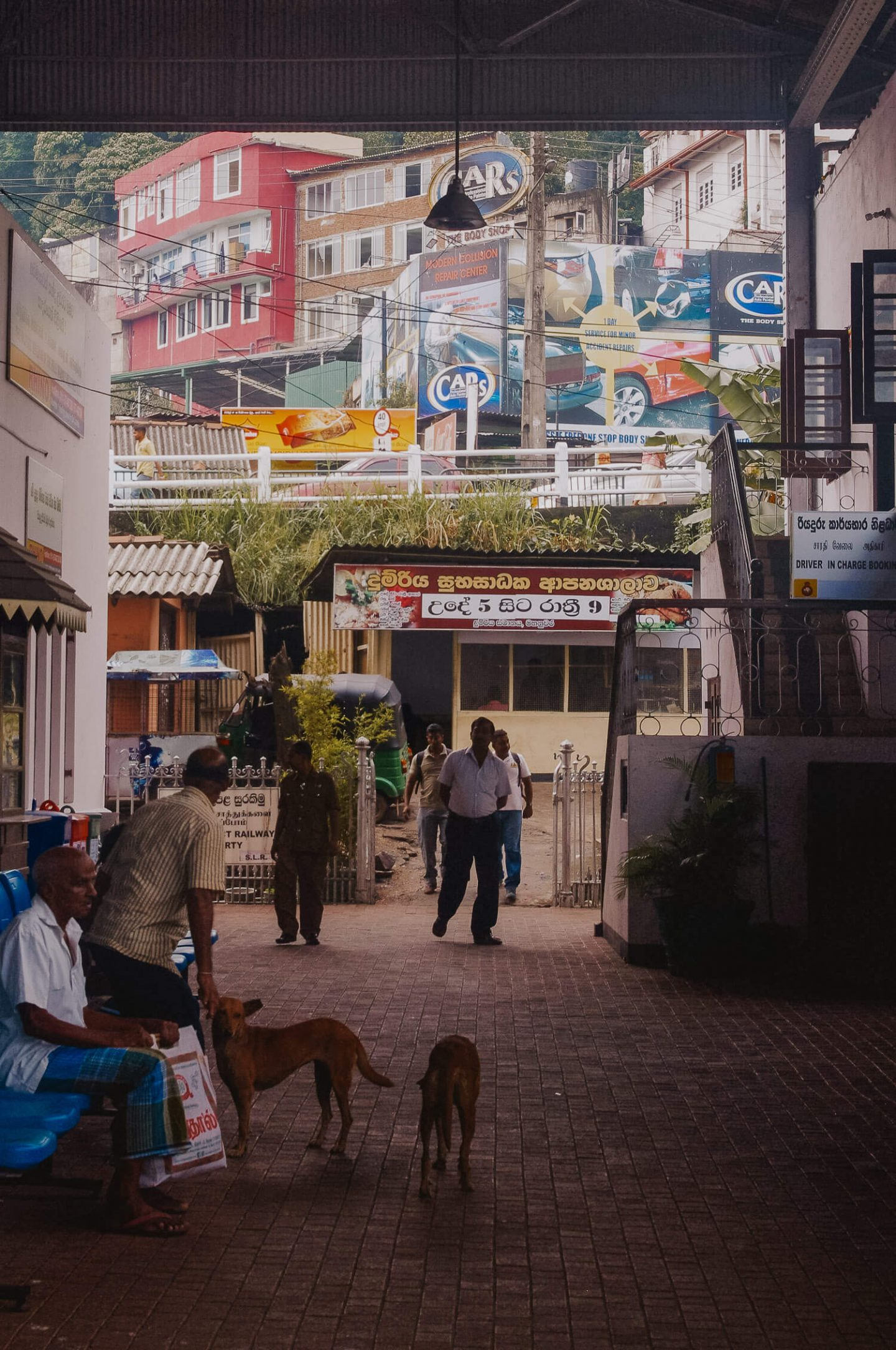 Street life in Kandy Sri Lanka