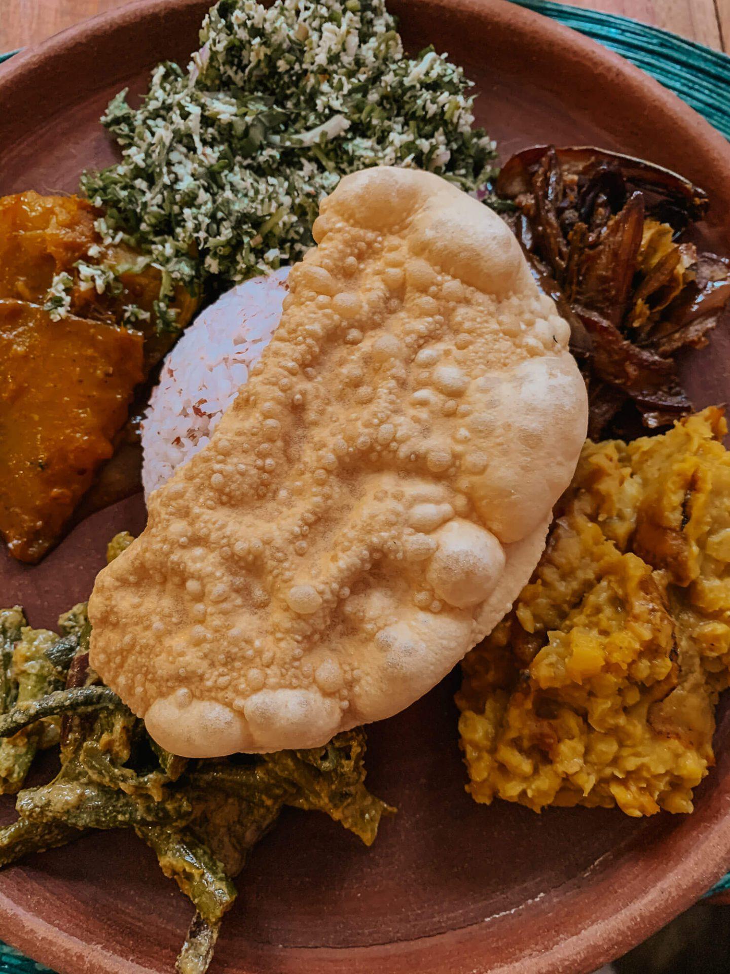 Sri Lankan Food in Kandy Sri Lanka
