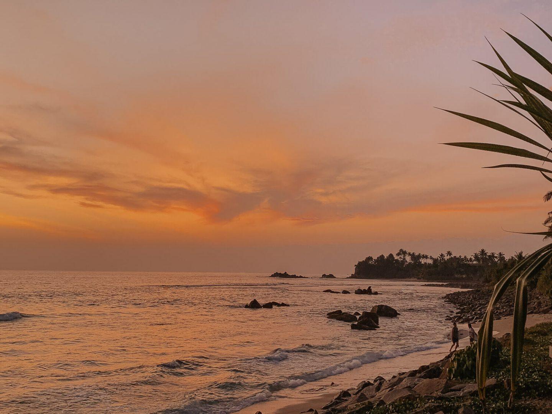 Sunsets in Weligama, Sri Lanka