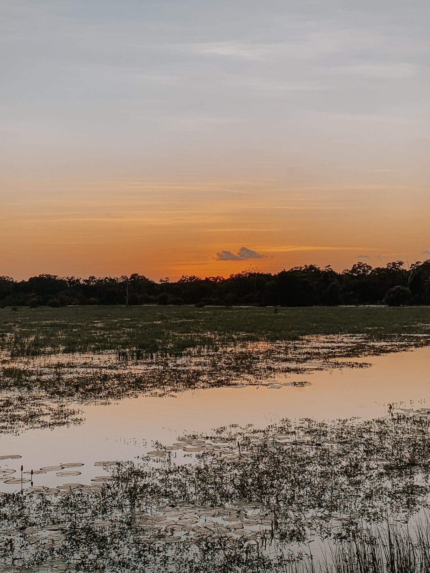 Sunset at Yala National Park Sri Lanka