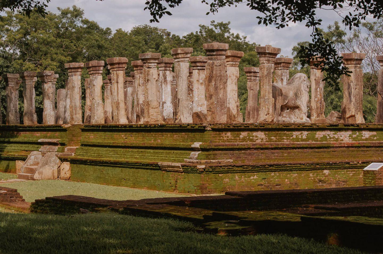 Pillars at City of Anuradhapura Sri Lanka