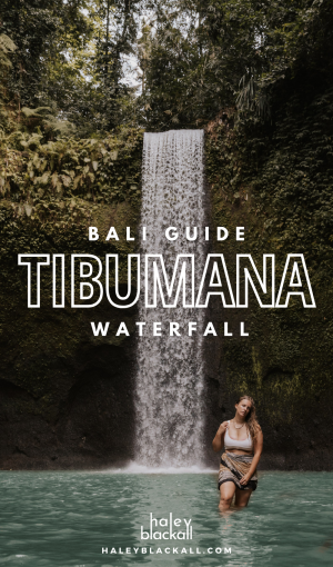 Tibumana Waterfall Bali Pin