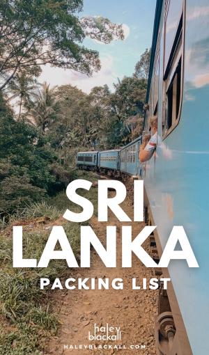 Sri Lanka Packing List Pin
