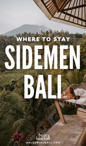 Where to stay in Sidemen Bali Pin