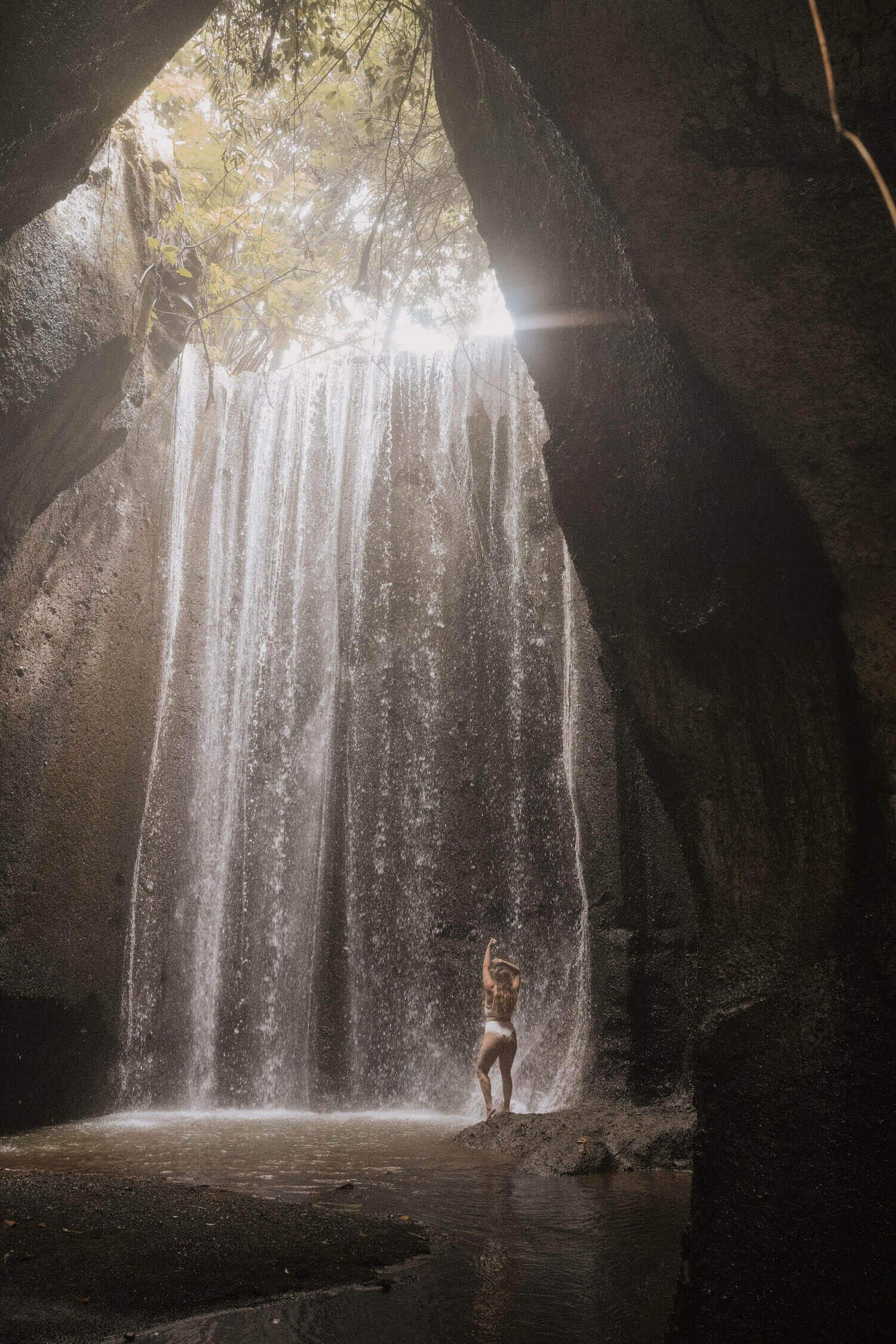 Tukad Cepung Waterfall Bali instagram spots