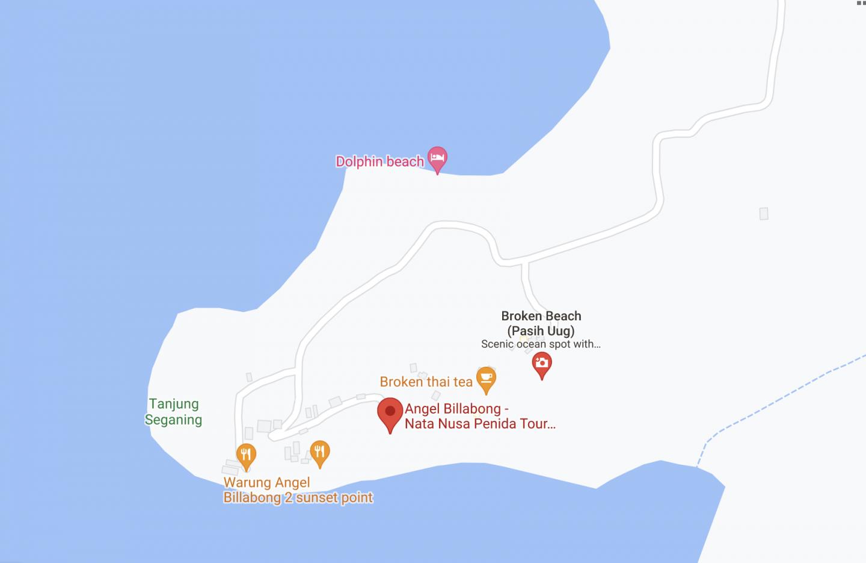 Where is Angel's Billabong Nusa Penida