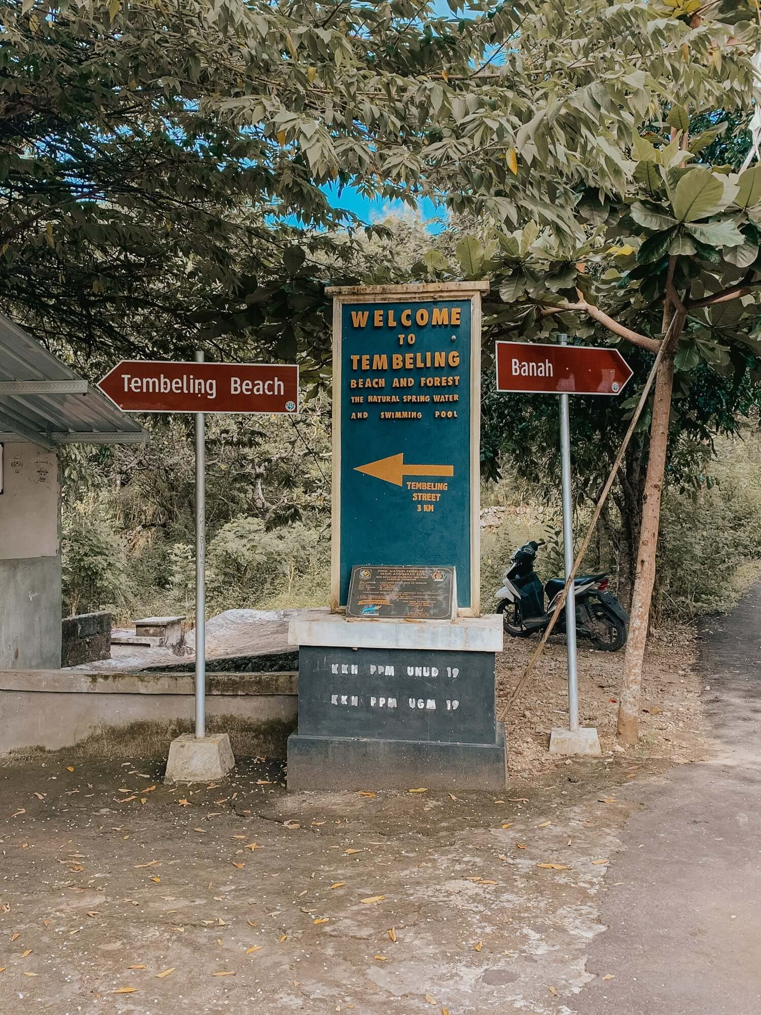 Sign for Tembeling Nusa Penida