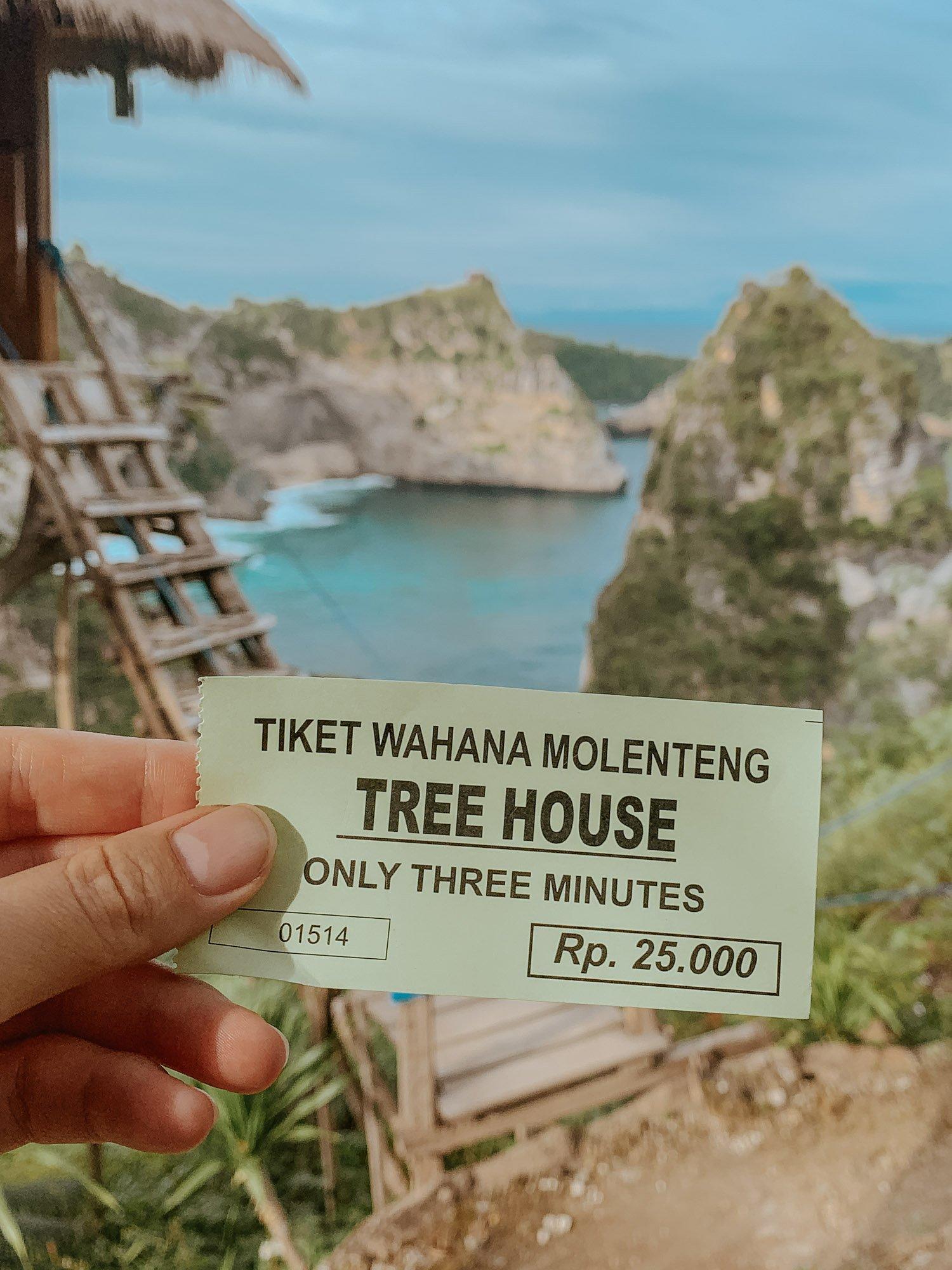 Ticket for Nusa Penida Treehouse
